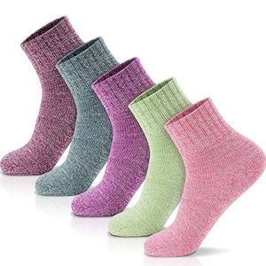 Winter Socks 5 Pairs Thick Wool Soft Warm